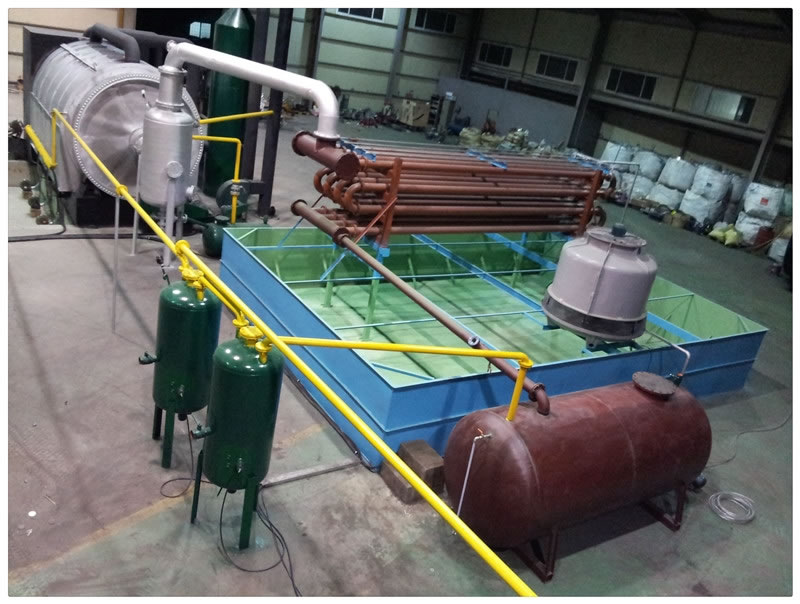 3Tons per Day waste tire-plastic pyrolysis plant in Philippines