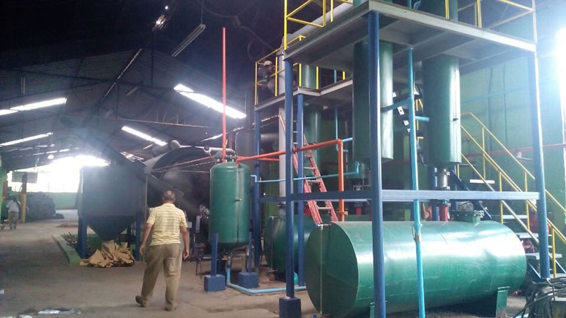 Waste plastic recycling machine for Philippines Project