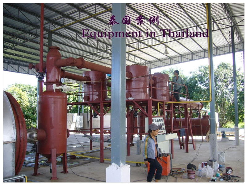 Waste tyre pyrolysis plant runs well in Thailand Project