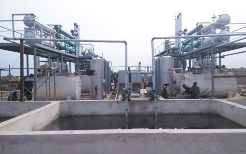 Waste tyre recycling machine for Nigeria Project